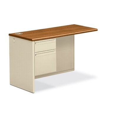 38000 Series 29.5 H x 48 W Left Desk Return Finish: Medium Oak/Putty