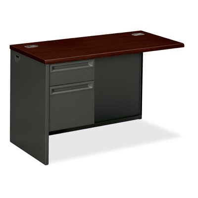 38000 Series 29.5 H x 48 W Left Desk Return Finish: Mahogany/Charcoal