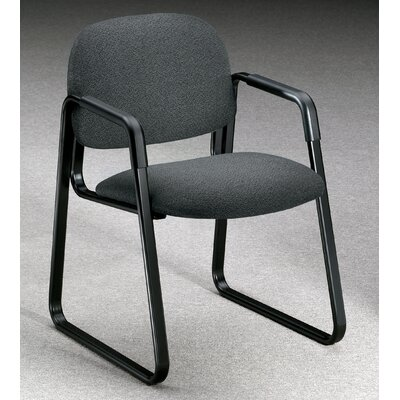 Solutions - 4000 Series Guest Chair Fabric: Gray, Casters/Glides: Sled Base