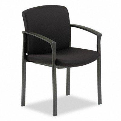 Park Avenue Series Guest Chair Fabric: Black