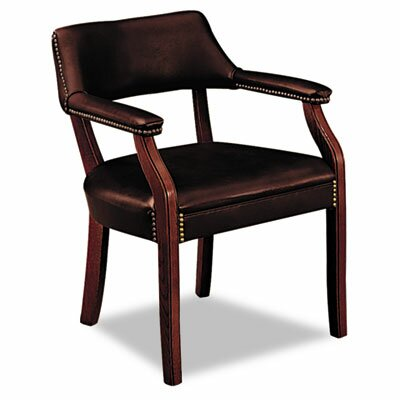 6500 Series Guest Chair Upholstery: Oxblood Vinyl, Casters/Glides: Not Included
