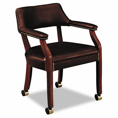 6500 Series Guest Chair Upholstery: Oxblood Vinyl, Casters/Glides: Included