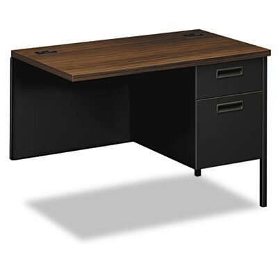 Metro Classic 29.5 H x 42 W Right Desk Return Finish: Columbian Walnut & Black