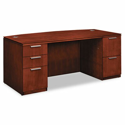 Arrive Bow Front Executive Desk Drawers Shaker Product Photo