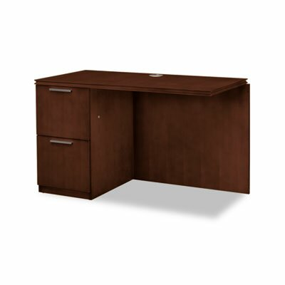 Arrive 29.5 H x 48 W Left Desk Return Finish: Shaker Cherry