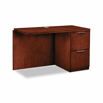 Arrive Single Pedestal Right Desk Return Finish: Henna Cherry Product Image 4826