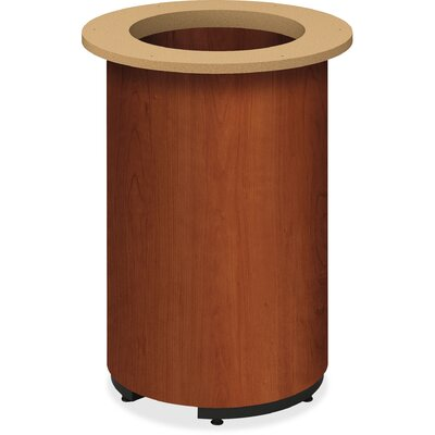Preside Table Cylinder Base Finish: Cognac