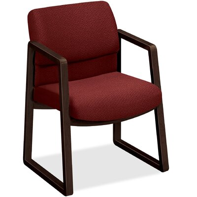 2400 Series Sled Base Guest Chair Seat Color: Burgundy