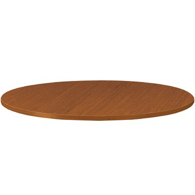 Preside Cafe/Commons Round Table Top Finish: Bourbon Cherry, Size: 4.13 H x 46.88 W x 46.88 D