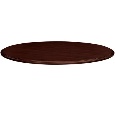Preside Cafe/Commons Round Table Top Finish: Mahogany, Size: 4.13 H x 46.88 W x 46.88 D