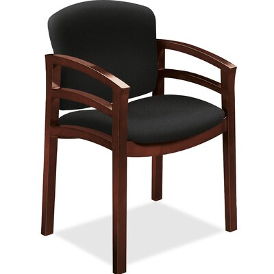Guest Chair Seat Color: Black, Frame Finish: Mahogany