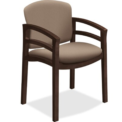 Guest Chair Seat Color: Black, Frame Finish: Mocha