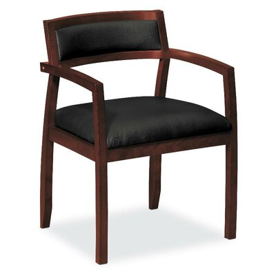 Leather Guest Chair Finish: Mahogany