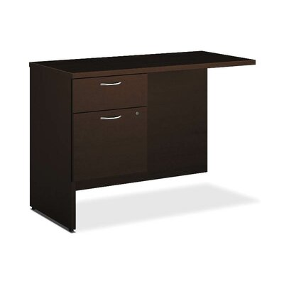 101 Series 29.5 H x 42 W Left Desk Return Finish: Mocha, Orientation: Left