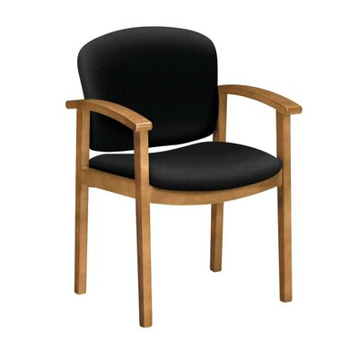 Invitation Guest Chair Seat Color: Black, Finish: Harvest