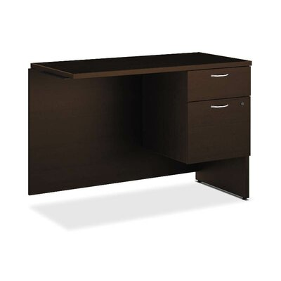 101 Series 29.5 H x 42 W Left Desk Return Finish: Mocha, Orientation: Right