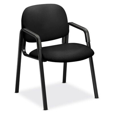 Solutions-4 Series Guest Chair Seat Color: Black