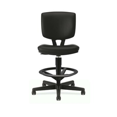 Volt Series Mid Back Leather Drafting Chair Arms 186 Product Photo