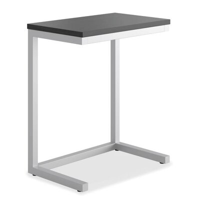 Occasional Cantilever End Table Color: Black/Matte Silver