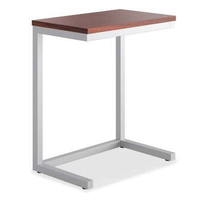 Occasional Cantilever End Table Color: Chestnut/Matte Silver