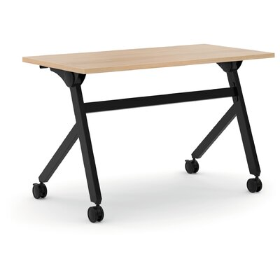 Flipper Training Table with Wheels Finish: Wheat, Size: 29.3 H x 47.2 W x 23.6 D