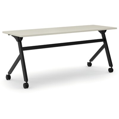 Flipper Training Table with Wheels Finish: Light Gray, Size: 29.3 H x 72 W x 23.6 D