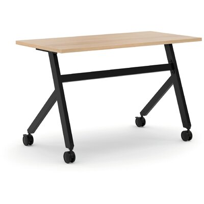 Training Table with Wheels Finish: Wheat, Size: 29.3 H x 59.1 W x 23.6 D