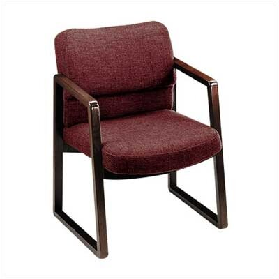 2400 Series Guest Chair Finish: Medium Oak, Fabric: Burgundy