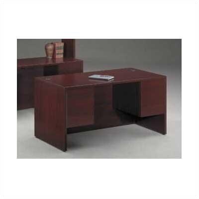 "Low Price HON 10500 Series 36"" W Curved Corner Computer Desk Finish"