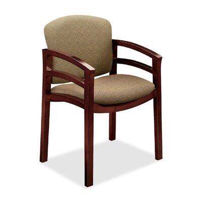 Invitation Guest Chair Color: Oatmeal, Finish: Mahogany