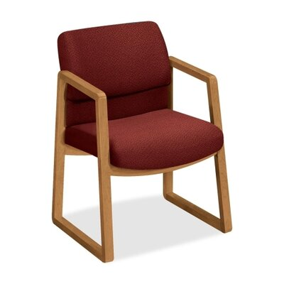 2400 Series Guest Chair Color: Fabric Burgundy