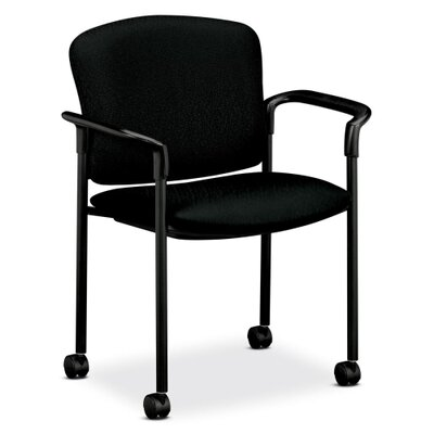Mobile Stacking Guest Arm Chair Seat Finish: Black, Arms: With Arms
