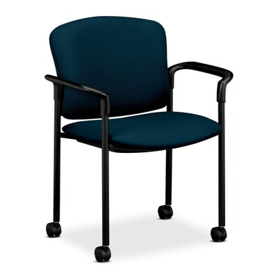 Mobile Stacking Guest Arm Chair Seat Finish: Mariner, Arms: With Arms