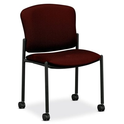 Mobile Stacking Guest Arm Chair Seat Finish: Wine, Arms: Without Arms