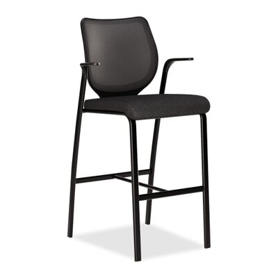Iliria-Stretch Bar Stool Color: Black
