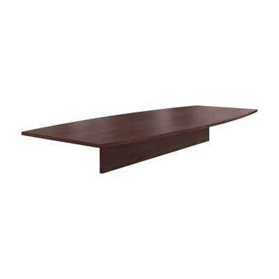 Preside Boat-shaped Conference Tabletop Finish: Mahogany, Size: 120 W