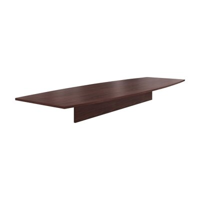 Preside Boat-shaped Conference Tabletop Finish: Mahogany, Size: 144 W