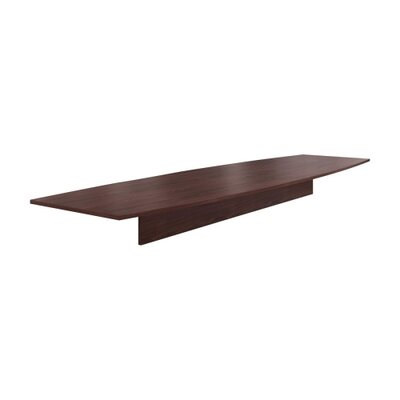 Preside Boat-shaped Conference Tabletop Finish: Mahogany, Size: 168 W