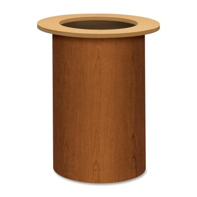 Preside Table Cylinder Base Finish: Bourbon Cherry