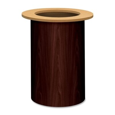 Preside Table Cylinder Base Finish: Mahogany