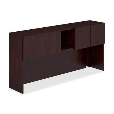35 H x 72 W Desk Hutch Finish: Mahogany