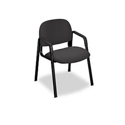 Solutions - 4000 Series Guest Chair Fabric: Black, Casters/Glides: Straight Leg