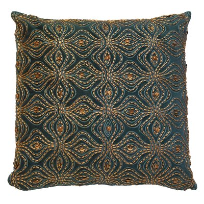 Encrusted Petal Cotton Throw Pillow