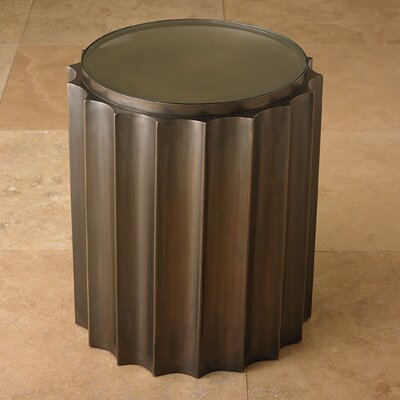 Fluted Column End Table Finish: Bronze