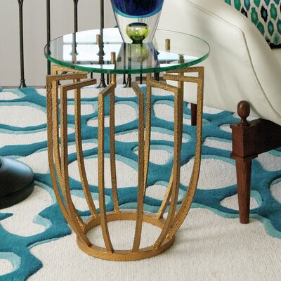 Spoke End Table Color: Gold