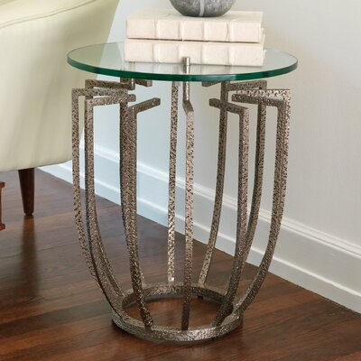 Spoke End Table Color: Hammered Nickel