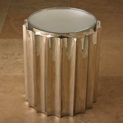 Fluted Column End Table Color: Nickel
