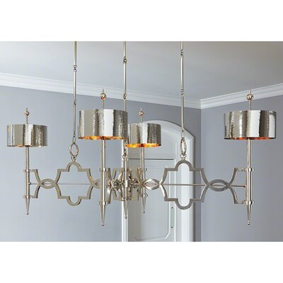 Quatrefoil 8-Light Drum Chandelier
