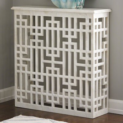 Marble Gridblock Console Table