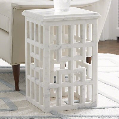 Gridblock End Table